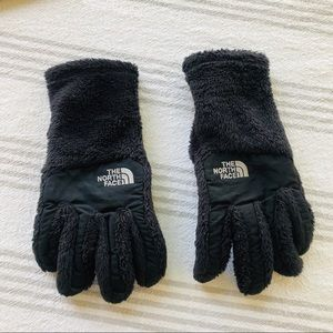 North Face Black Fuzzy Gloves